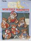 Cherished Teddies Monthly Magnets in Plastic Canvas