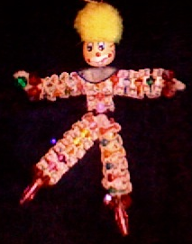 beaded clown